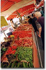 Marché legumes